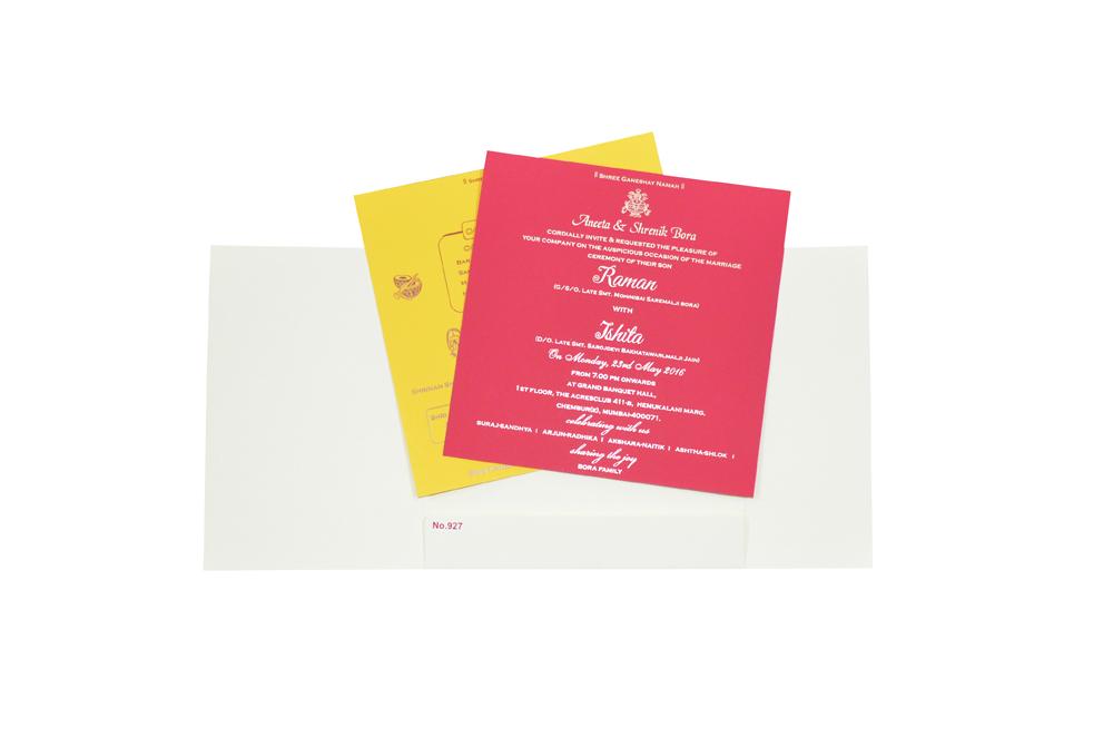 Designer Wedding Card RR 927 e