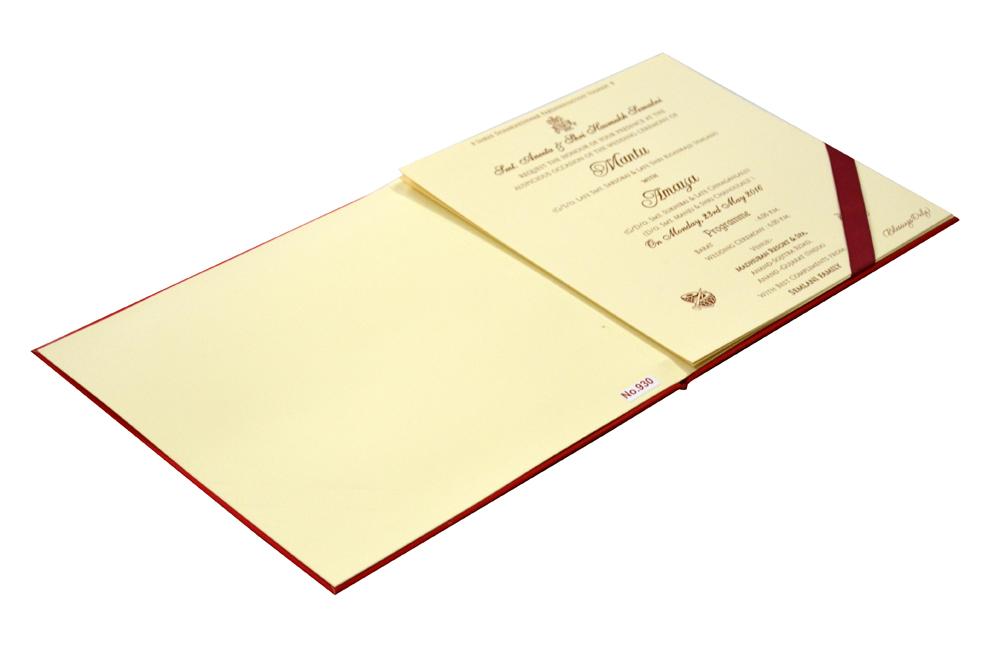Traditional Wedding Card RR 930 e