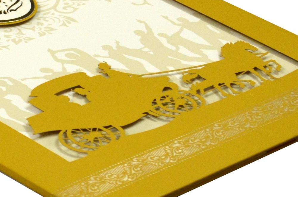 Laser Cut Wedding Card Design RR 933 b