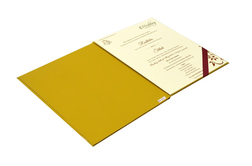 Laser Cut Wedding Card Design RR 933 e