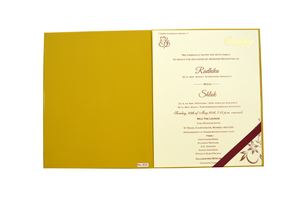Laser Cut Wedding Card Design RR 933 f