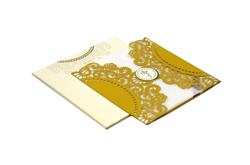 Hindu Lasercut Wedding Card Design RR 944