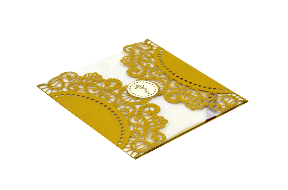 Hindu Lasercut Wedding Card Design RR 944 c