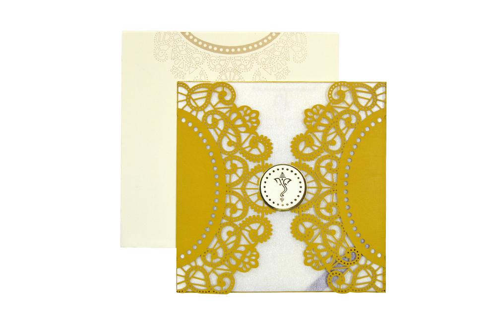 Hindu Lasercut Wedding Card Design RR 944 d