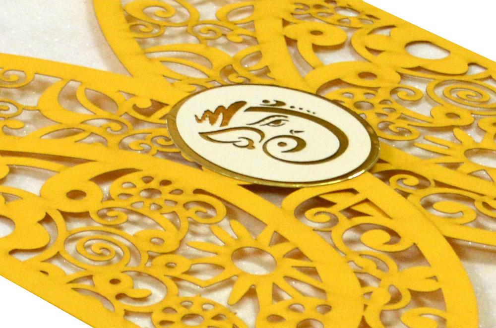 Hindu Lasercut Wedding Card Design RR 945 b
