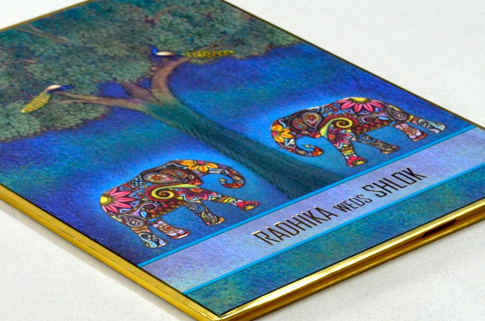 Elephant Theme Wedding Card Design RR 965 b