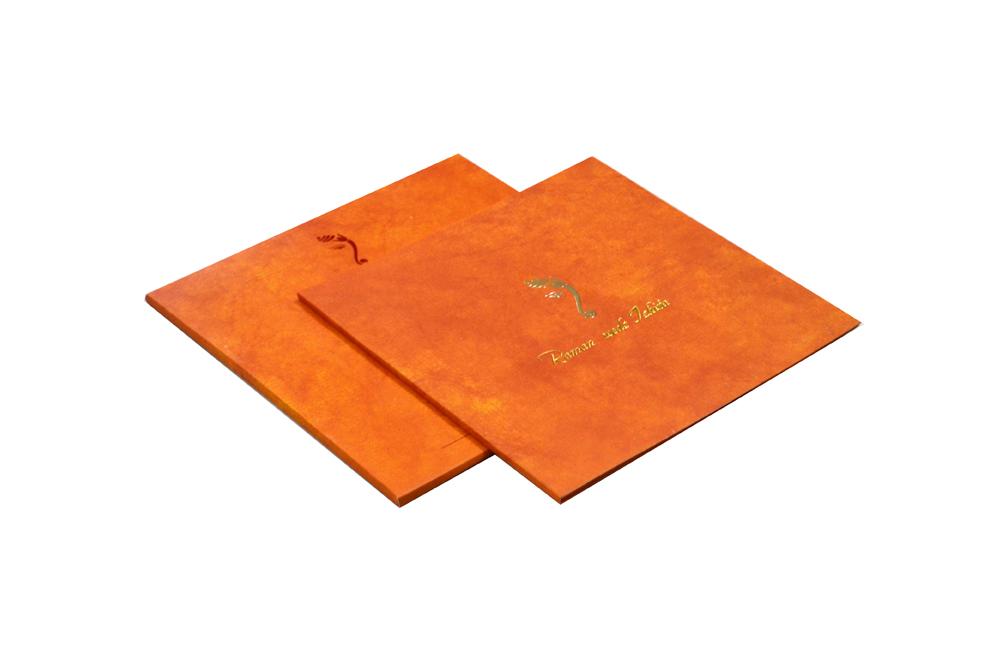 Orange Hindu Wedding Card Design RR 969