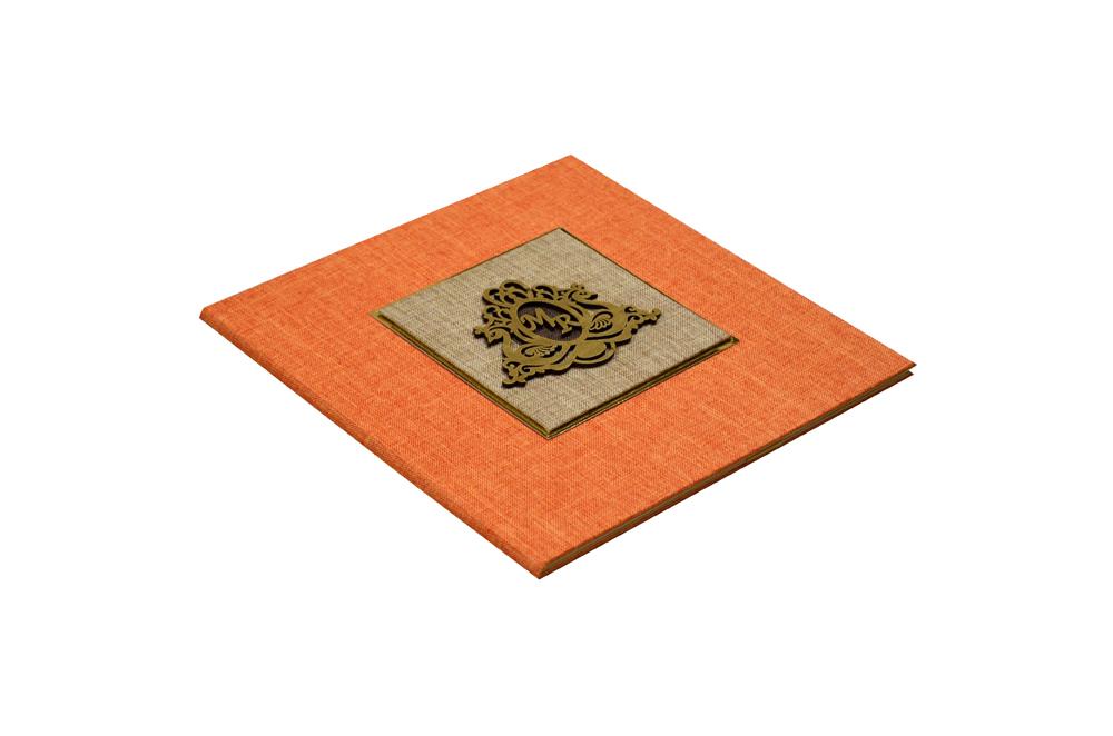Orange Wedding Card Design WD 7705 c