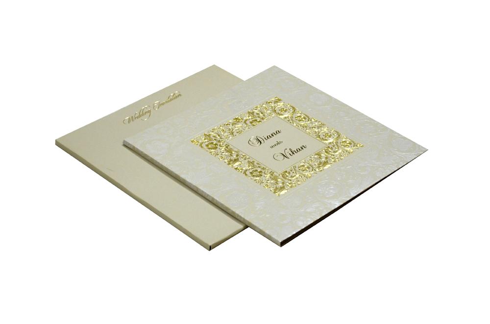 Grey Wedding Card Design WD 7706