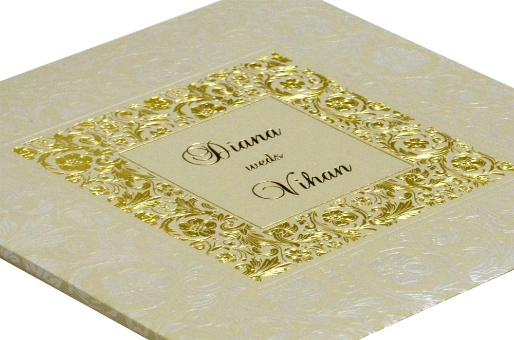 Grey Wedding Card Design WD 7706 b