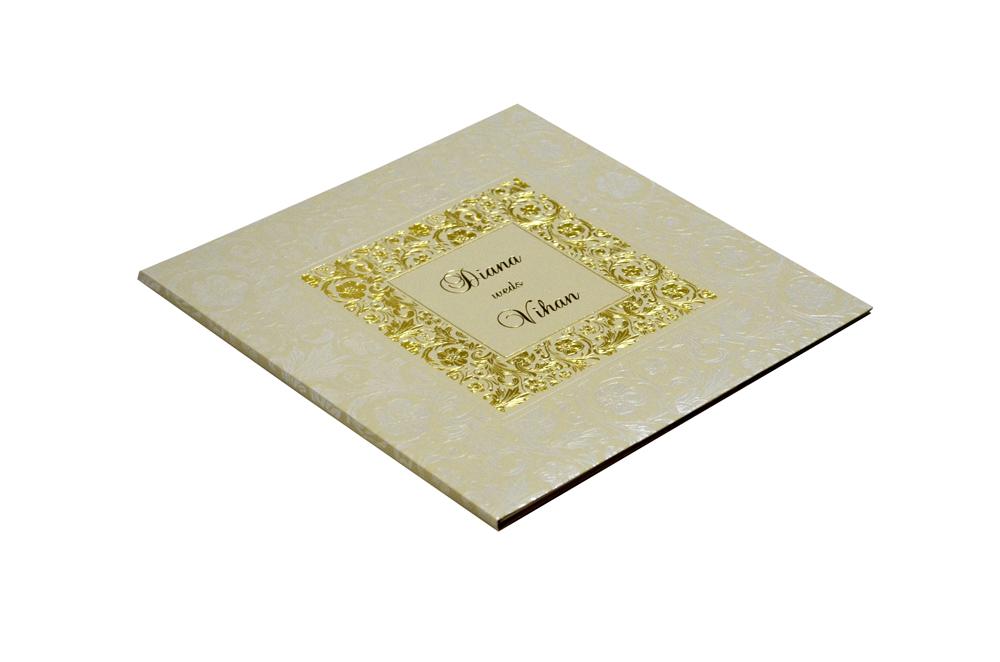 Grey Wedding Card Design WD 7706 c