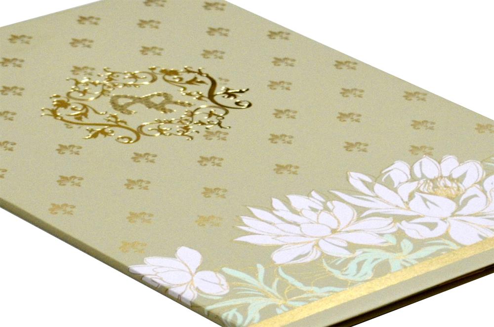 Flower Theme Wedding Card Design WD 7710 b