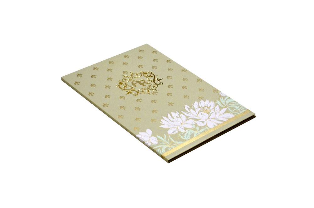 Flower Theme Wedding Card Design WD 7710 c