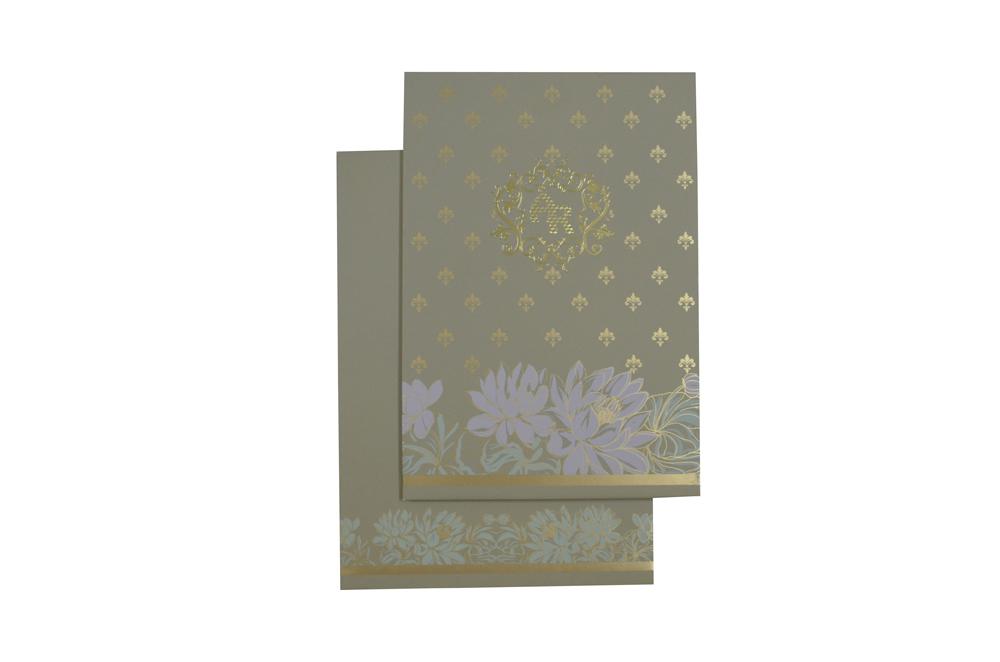 Flower Theme Wedding Card Design WD 7710 d