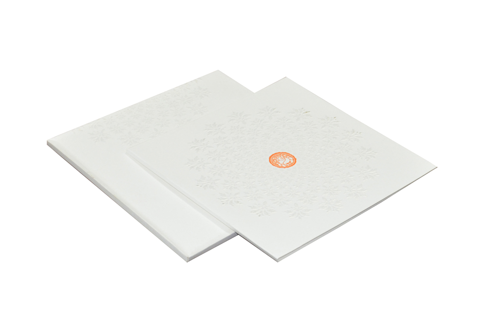 White Wedding Card Design WD 7712