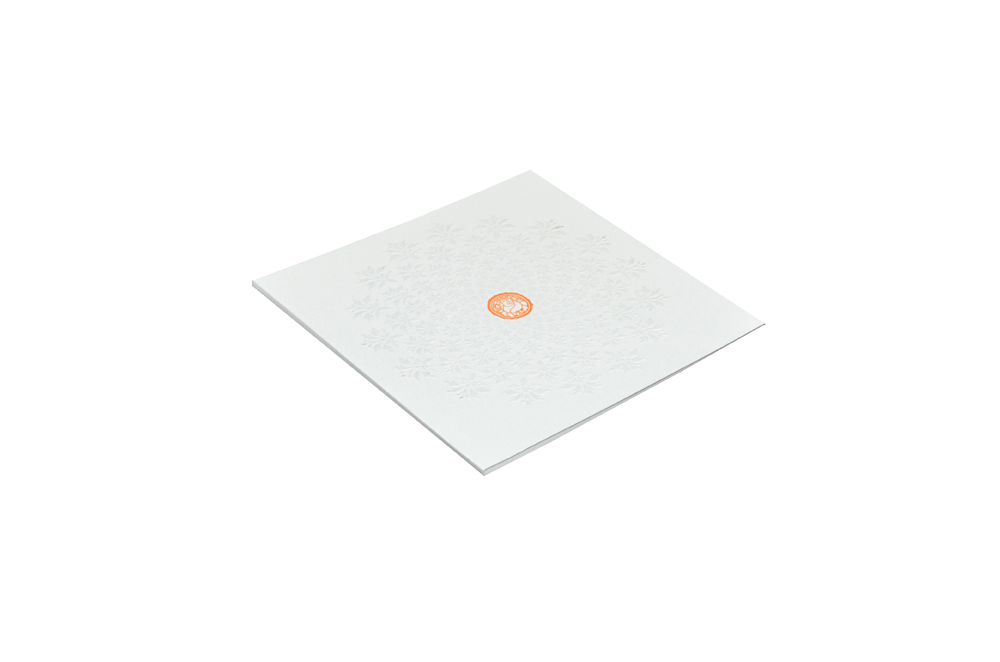 White Wedding Card Design WD 7712 c