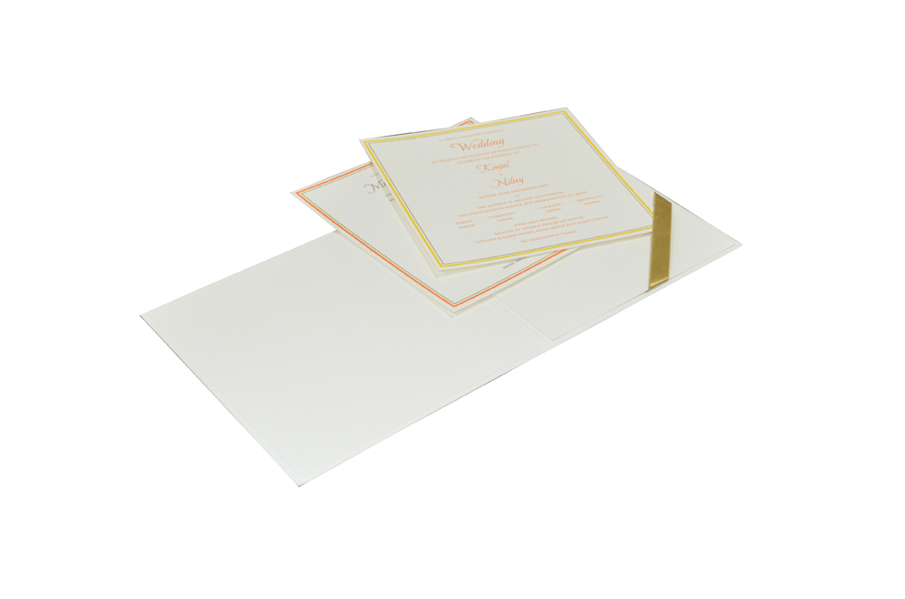 White Wedding Card Design WD 7712 d
