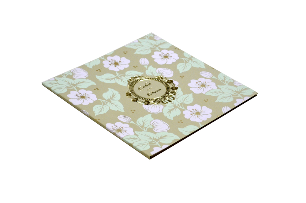 Floral Theme Designer Wedding Card WD 7779 c