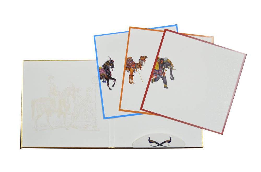 Horse Theme Wedding Card AC 620