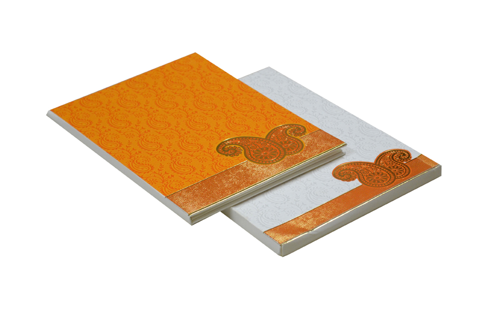Keri Theme Orange Wedding Card AC 653