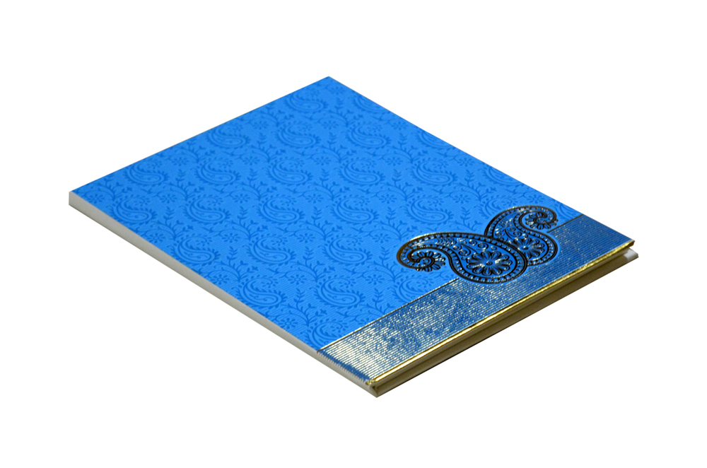 Keri Theme Blue Wedding Card AC 654