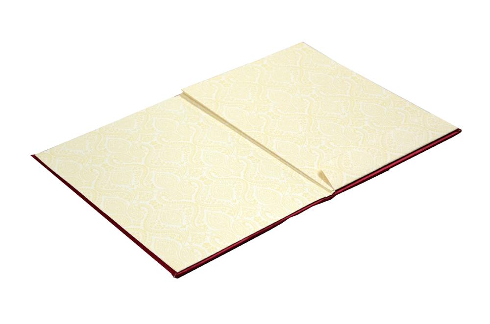 Red Hindu Satin Cloth Wedding Card AC 682