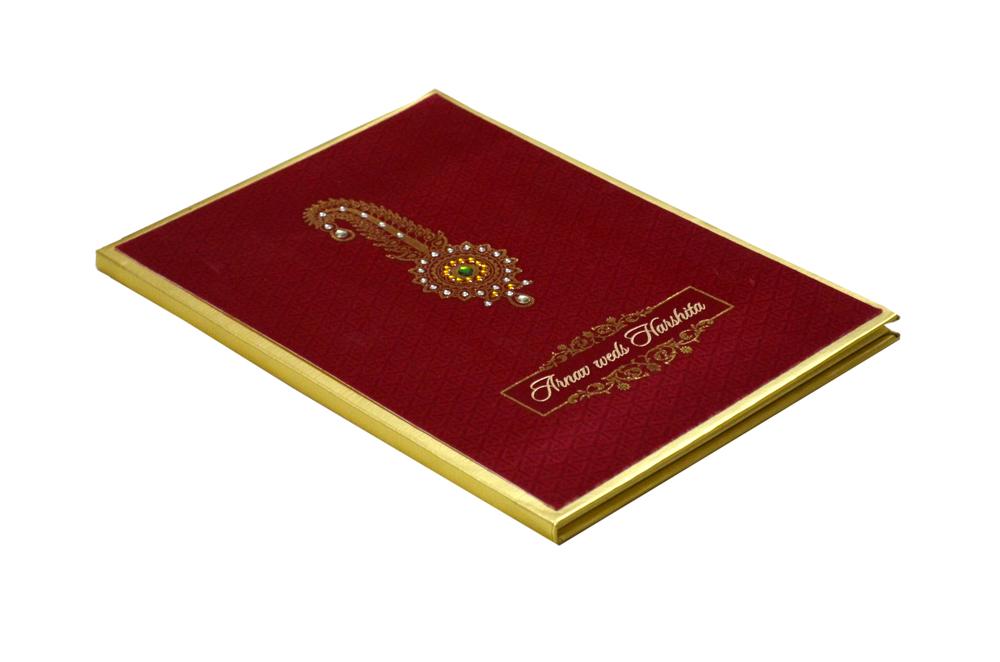 Groom Theme Wedding Card AC 689