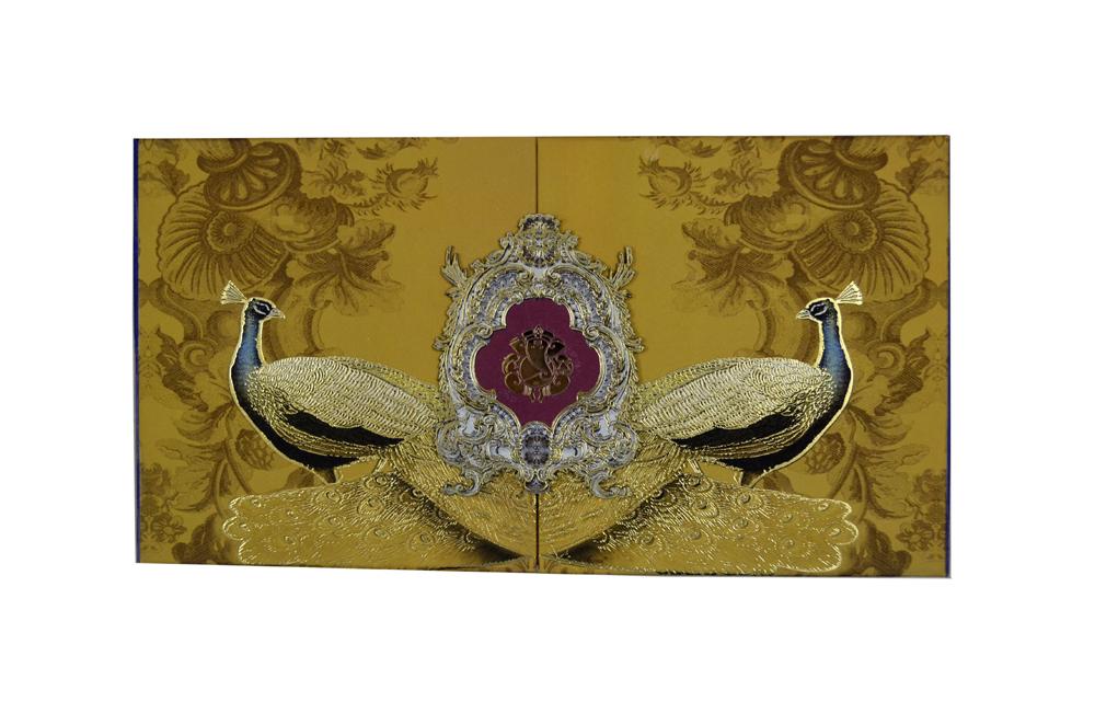 Peacock Theme Wedding Card Box PDB 220