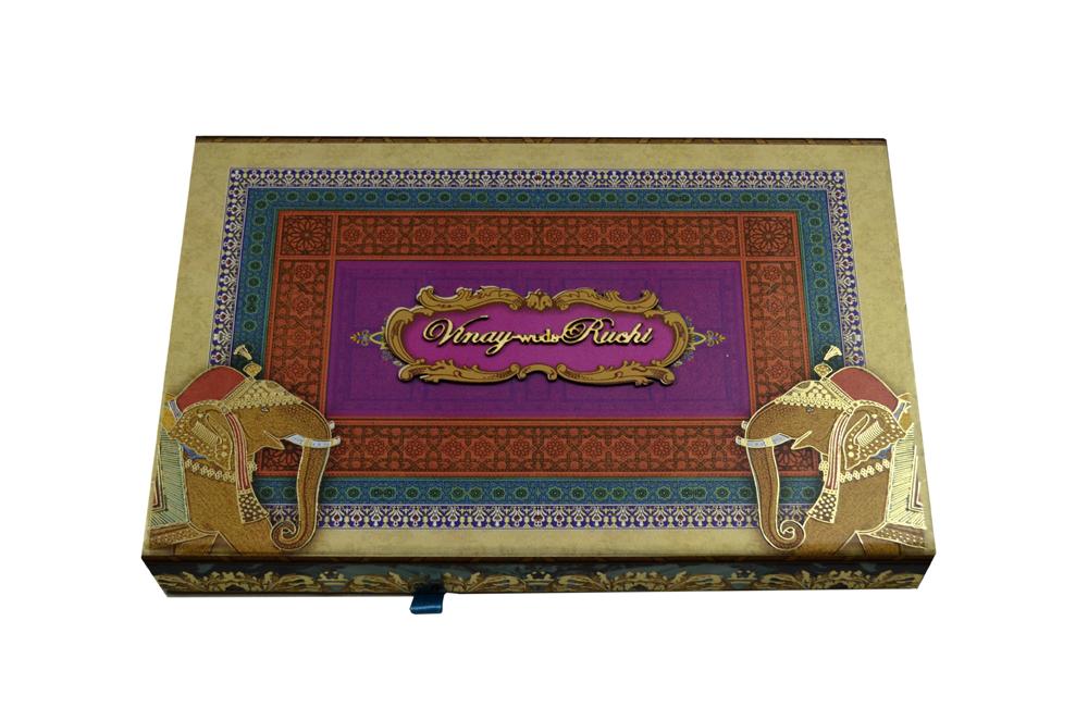 Baraat Theme Boxed Wedding Card PDB 226