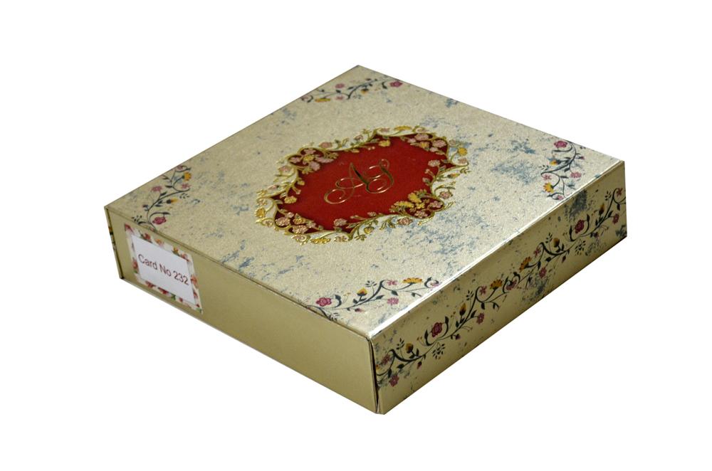 Golden Wedding Card Box PDB 232
