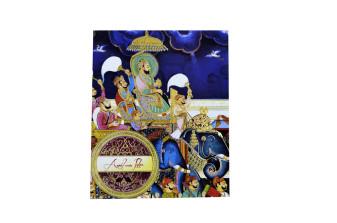 Baraat Theme Boxed Wedding Card PDB 247
