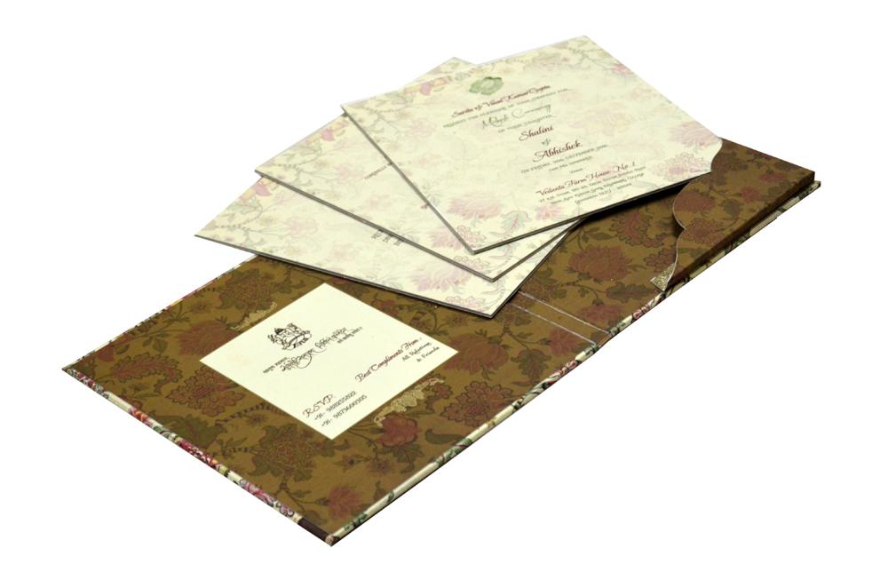 Floral Wedding Card Design PDC 217
