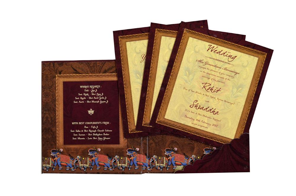 Elephant Theme Wedding Card Design PDC 222