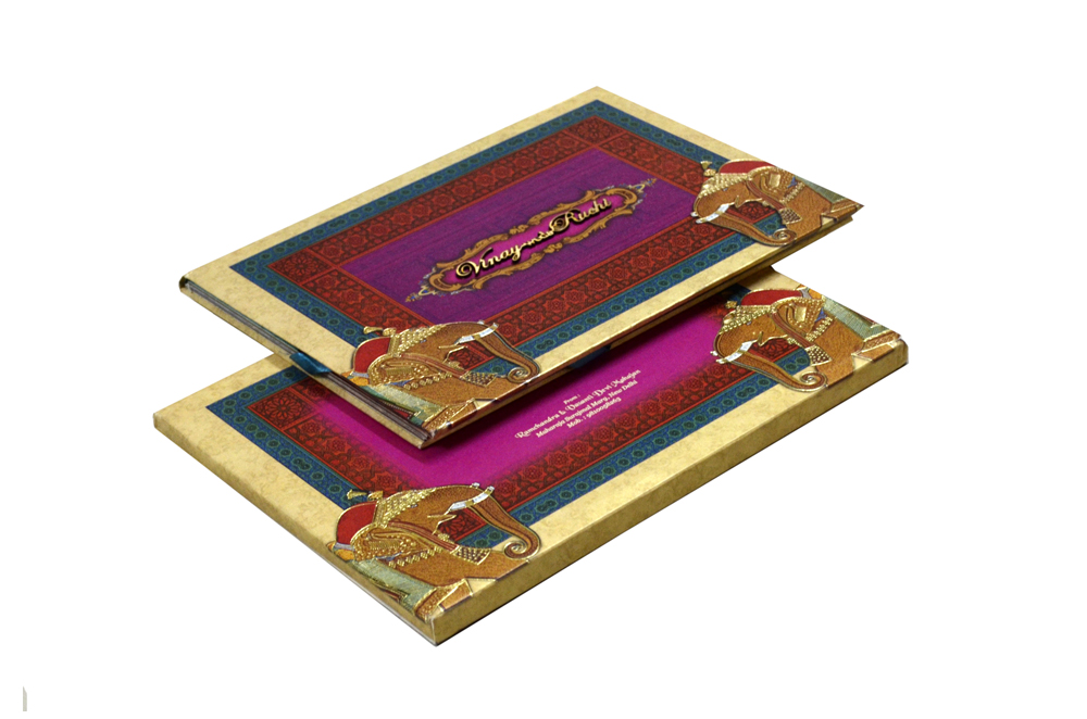 Baraat Theme Wedding Card Design PDC 226