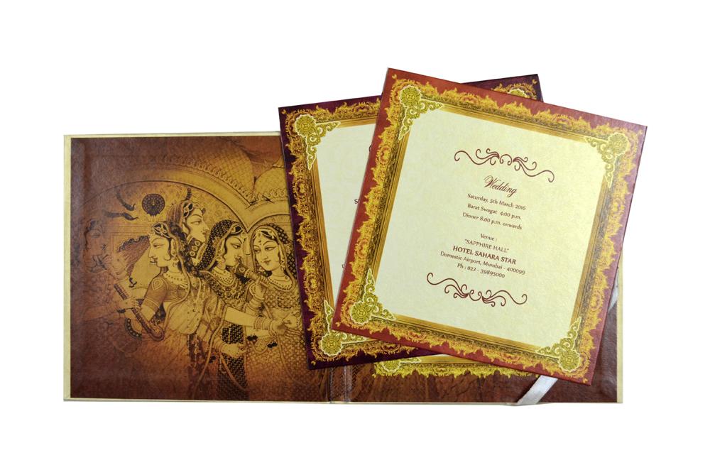 Laser Cut Wedding Card Design PDC 233