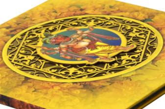 Ganesh Theme Wedding Card PDC 236