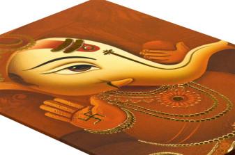 Ganesh Theme Wedding Card SL 132