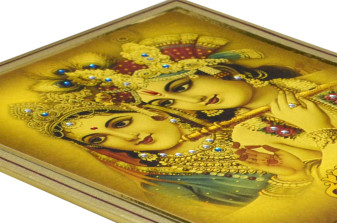 Radha Krishna Theme Wedding Card SL 193