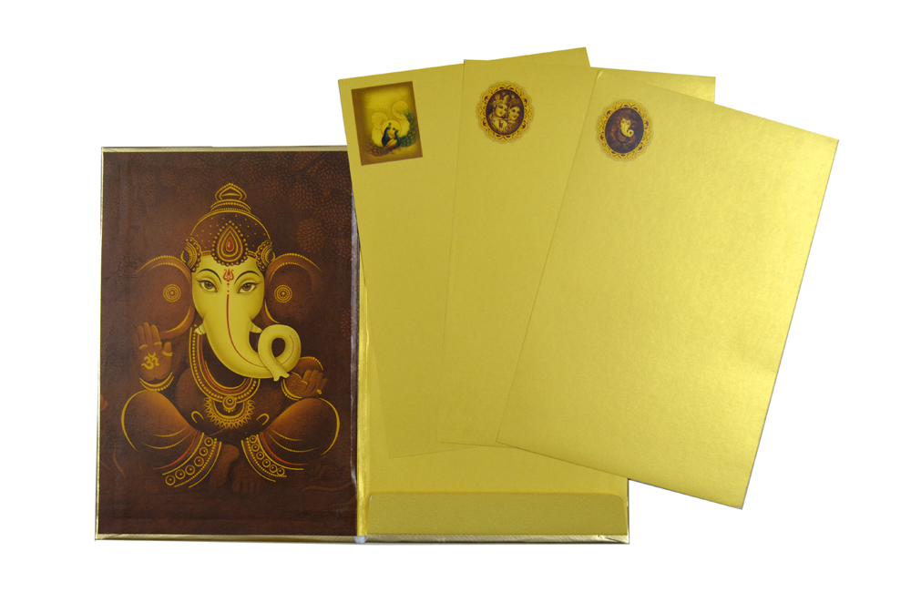 Radha Krishna Theme Wedding Card SL 193