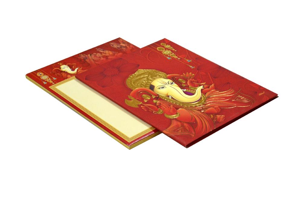 Ganesh Theme Wedding Card SL 195