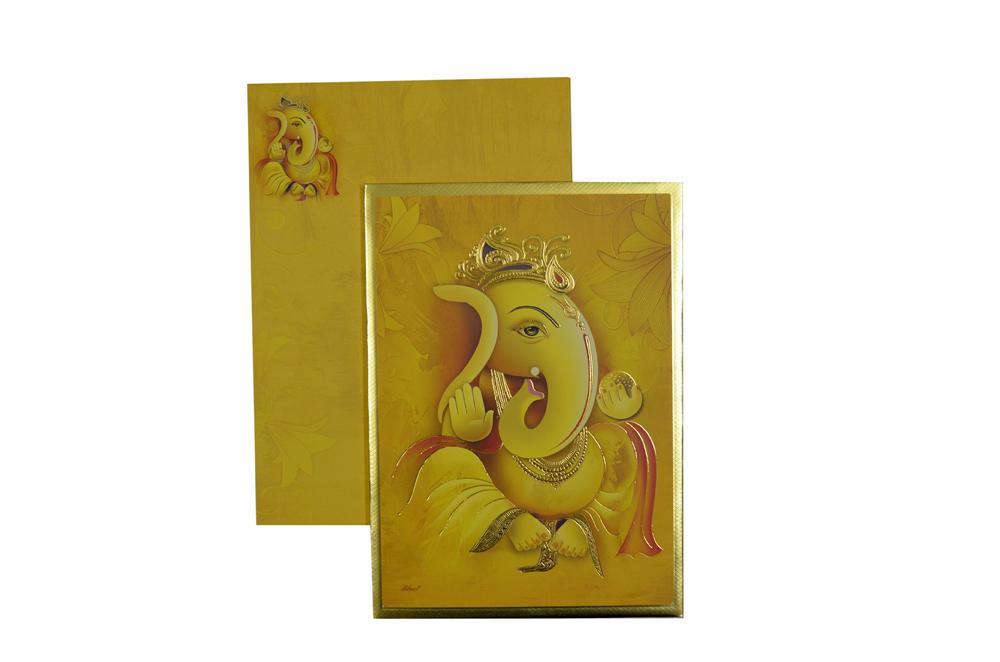 Ganesh Theme Wedding Card SL 201
