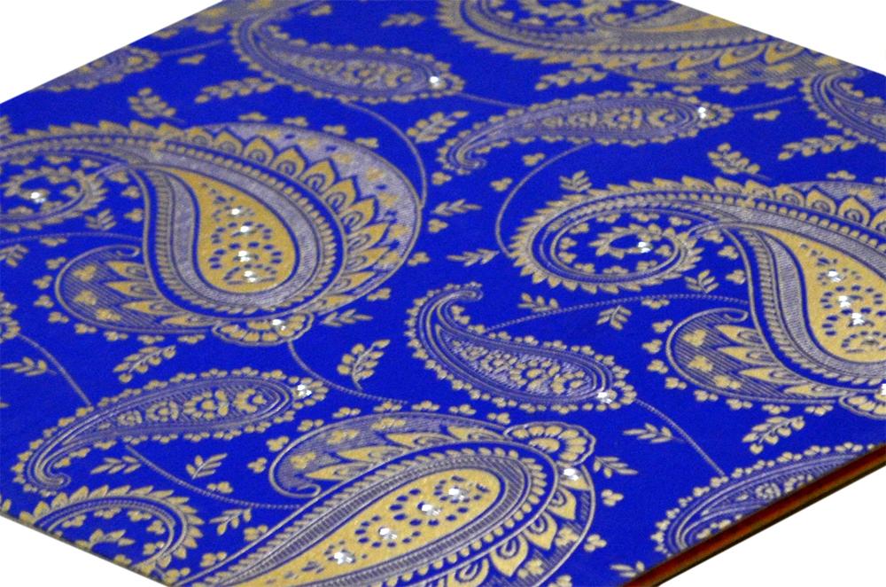 Paisley or Keri Design Blue Wedding Card GC 1001