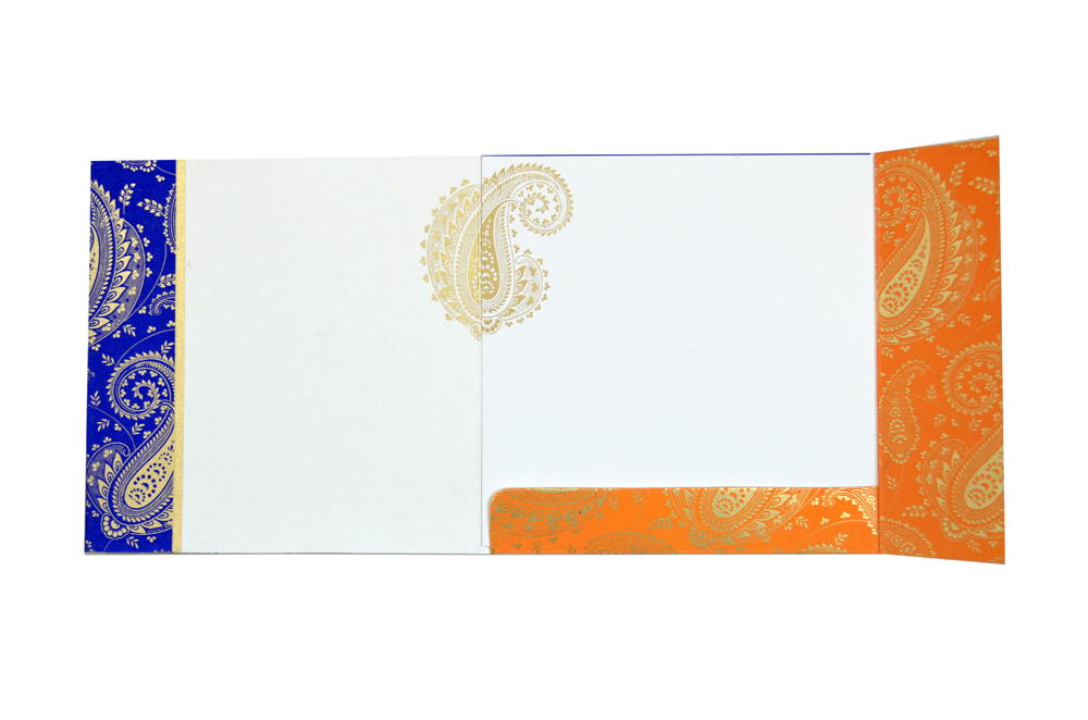Paisley or Keri Design Blue Wedding Card GC 1001