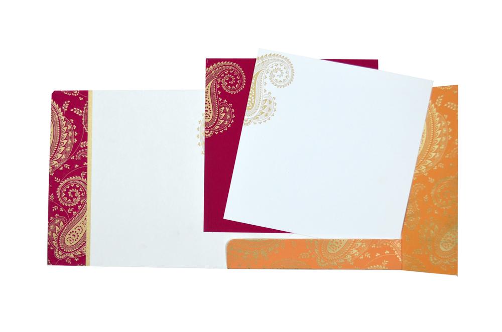 Paisley or Keri Design Pink Wedding Card GC 1002