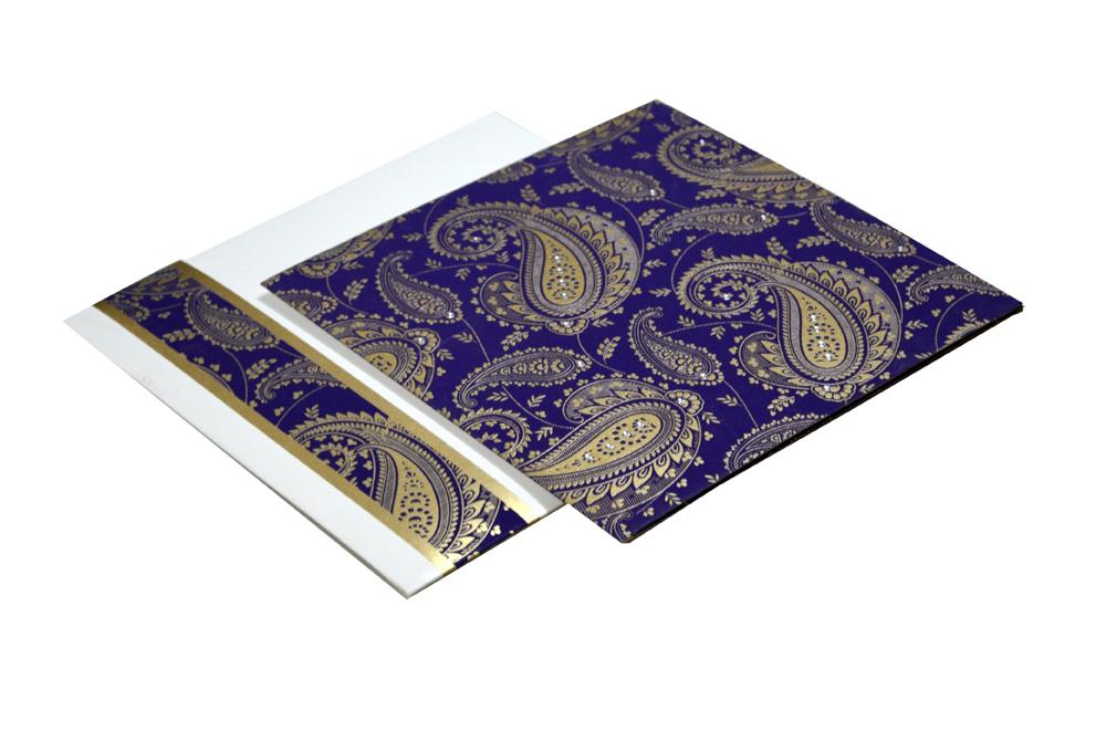 Paisley or Keri Design Purple Wedding Card GC 1003