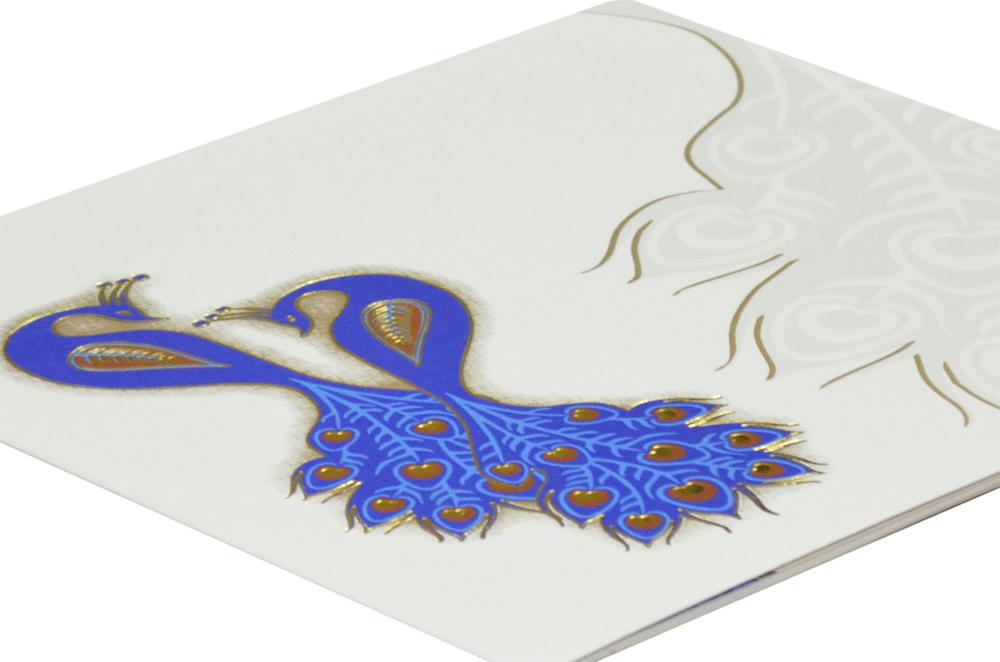 Designer Peacock Theme Wedding Card GC 1006