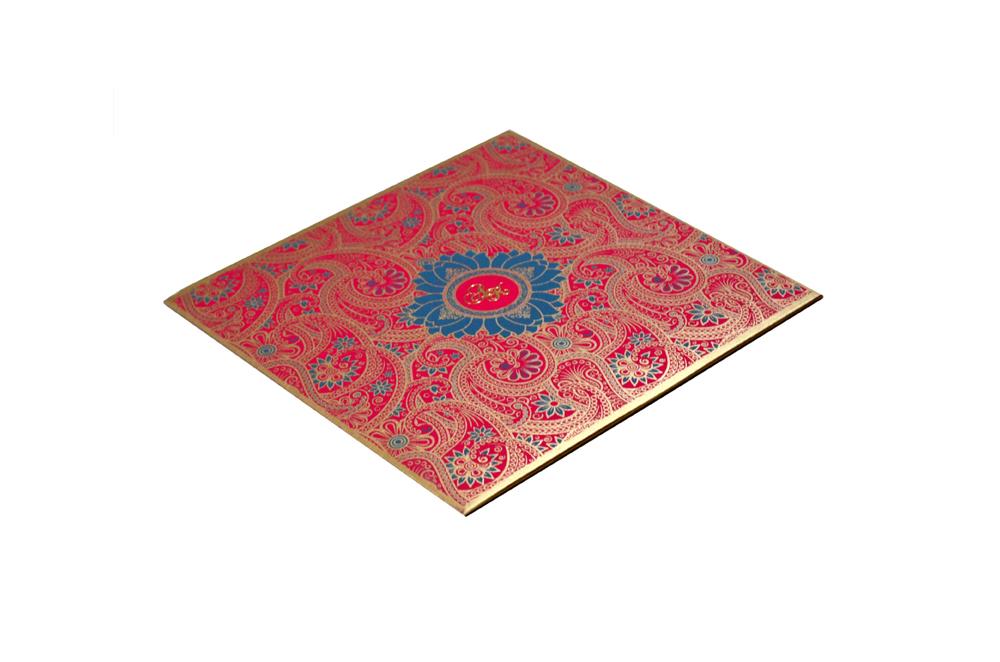 Designer Keri Theme Traditional Wedding Card GC 1011