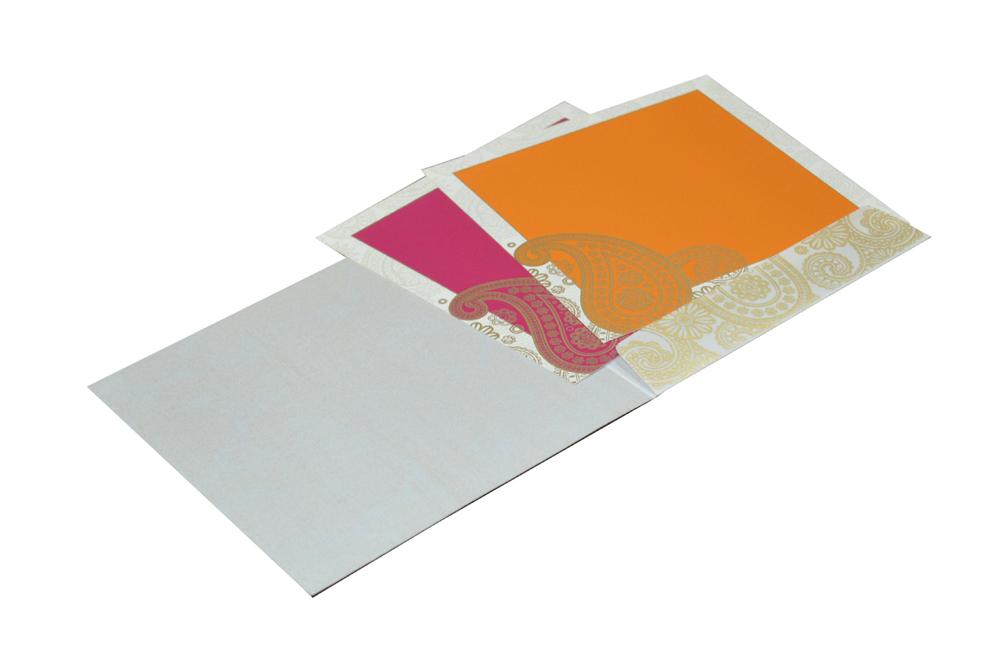 Ham Pattern Butter Paper Wedding Card GC 1020