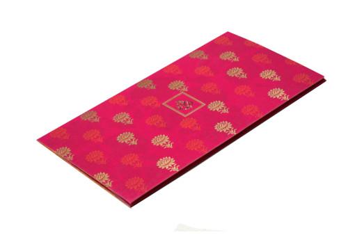 Pink Designer Wedding Card GC 1027