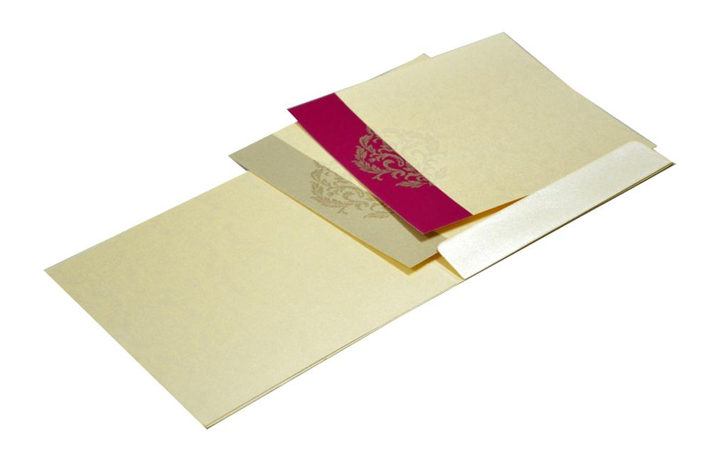 Bride Groom Theme Designer Wedding Card GC 1030